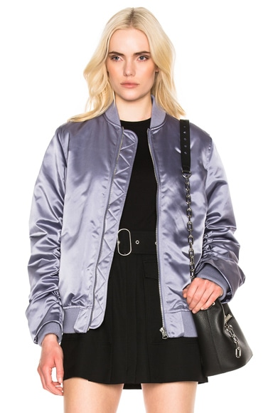 Acne Studios Leia Bomber Jacket in Lilac