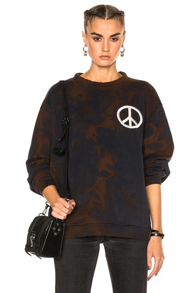 Acne Studios Fint Peace Sweater in Dark Navy Bleach