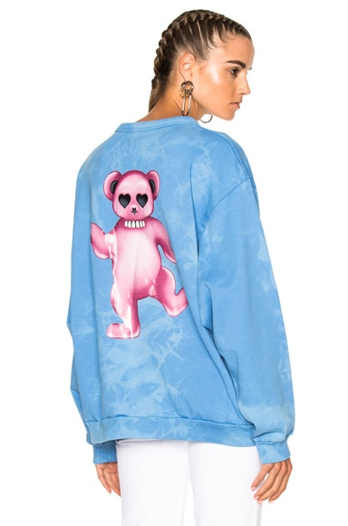 Acne Studios Fint Bear Sweater in Sky Bleach