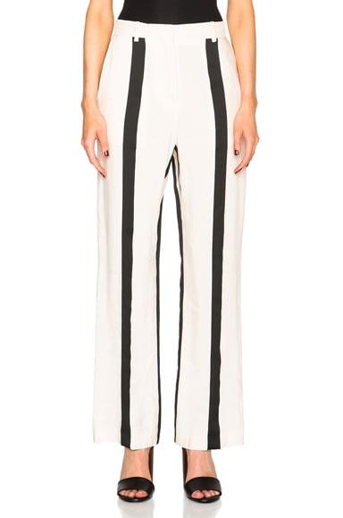 Acne Studios Obel Striped Trousers in Wide Black