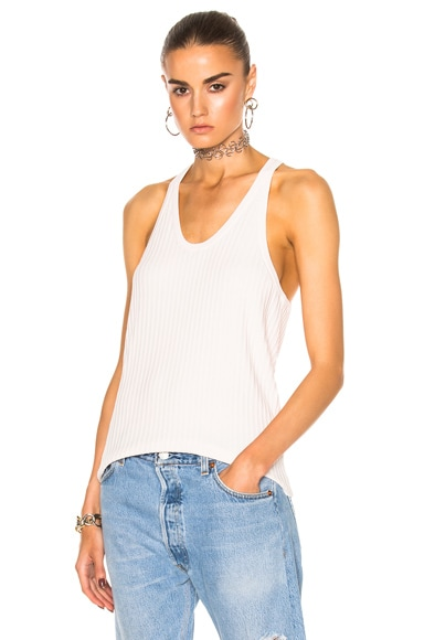 Acne Studios Iso Rib Tank in Pale Pink