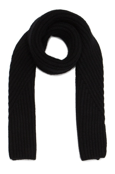 Acne Studios Hana Short Chunky Scarf in Black
