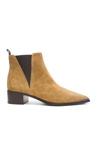 Acne Studios Jensen Suede Boots in Dark Sand