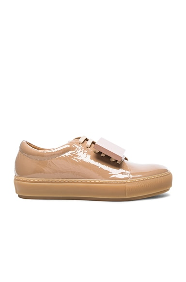 Acne Studios Adriana Patent Leather Sneakers in Beige