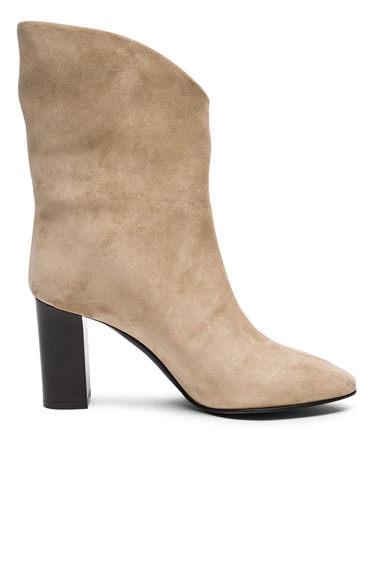 Acne Studios  Suede Ava Boots in Natural