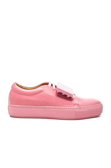 Acne Studios Leather Adriana Turnup Sneakers in Bubble Pink