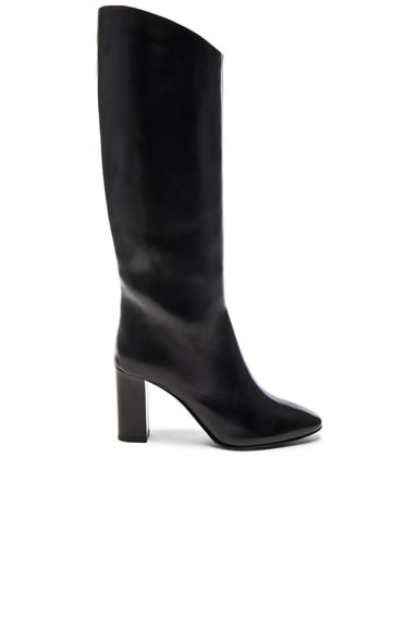 Acne Studios Leather Aly Boots in Black
