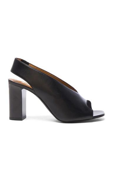 Acne Studios Leather Abbie Heels in Black