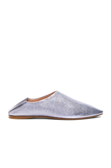 Leather Amina Space Flats Acne Studios