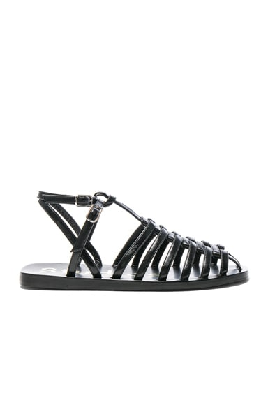 Shiny  Leather Omane Sandals