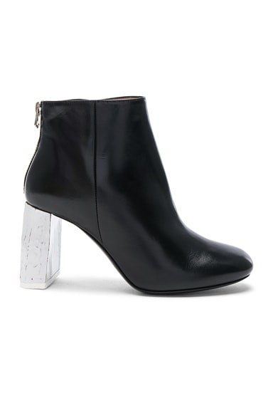 Leather Claudine Booties