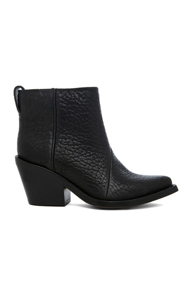 Donna Pebbled Leather Booties
