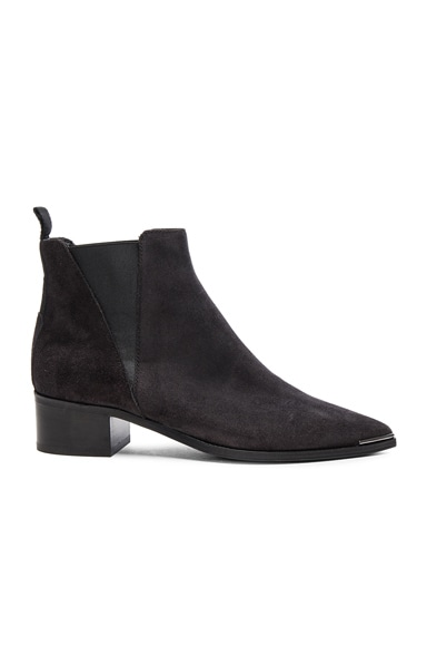 Acne Studios Suede Jensen Booties in Black