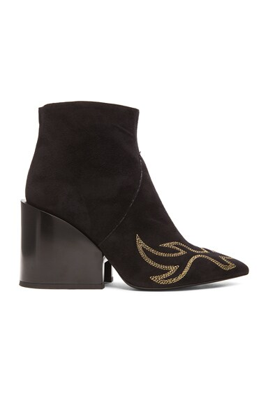 Acne Studios Angel Suede Boots in Black