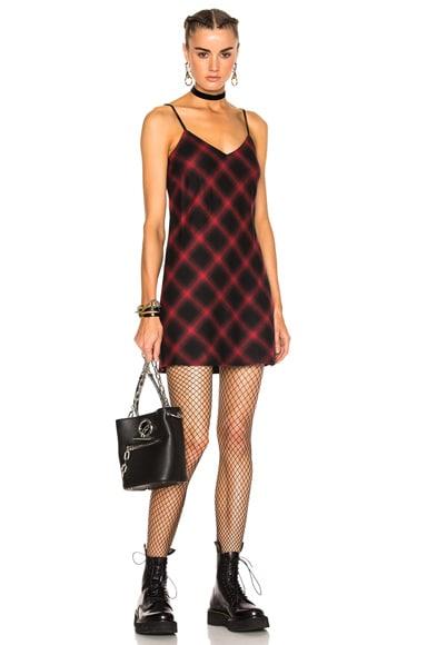 Bias Plaid Slip Dress