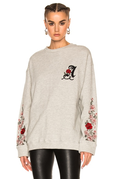 Adaptation Weeping Roses Sweatshirt in Heather Gray