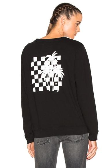 Adaptation Crew Sweatshirt in Worn Black