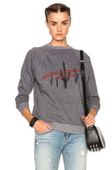 Adaptation Cactus Vintage Sweatshirt in Vintage Grey & Red