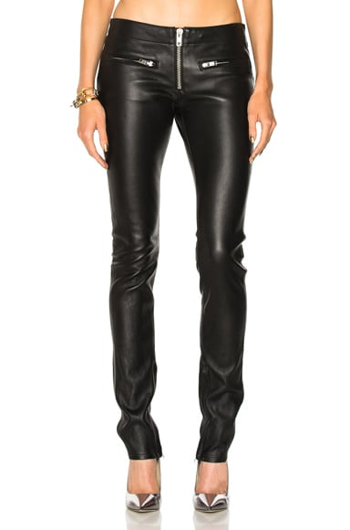 Zip Skinny Leather Pant