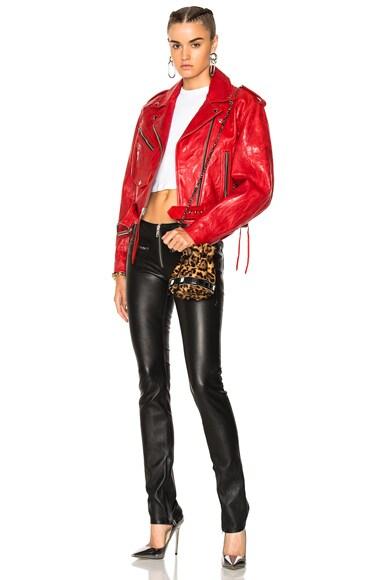 Zip Skinny Leather Pant