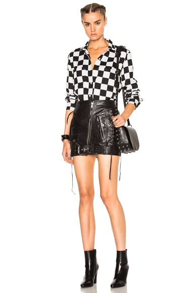 Leather Moto Skirt