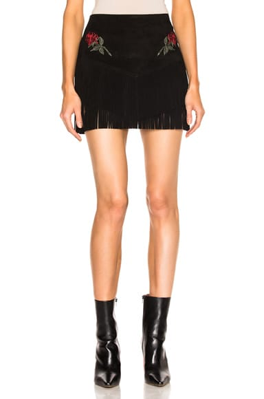 x The Chain Gang Rose Fringe Skirt