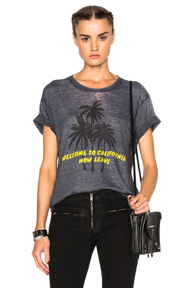 Adaptation Palm Vintage Tee in Grey & Yellow