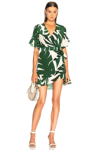 Geometric Foliage Short Dress