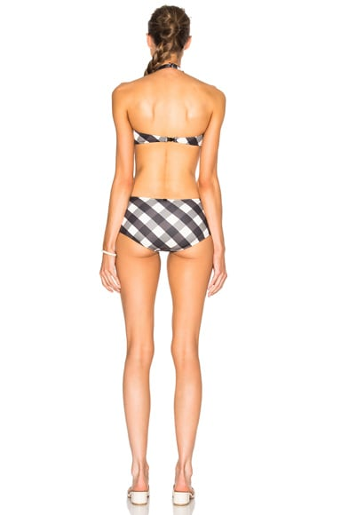 Gingham Cut Outs Swimsuit