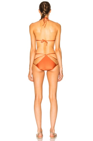 Tulle Detail Triangle Bikini