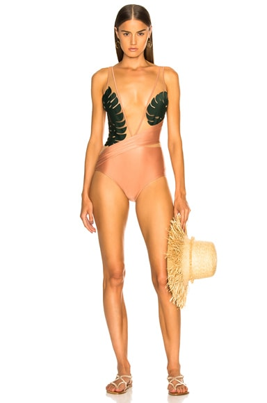 Tropical Chic Swimsuit With Tulle