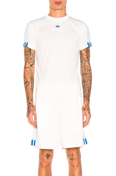 adidas by Alexander Wang Soccer Jersey Top in Core White