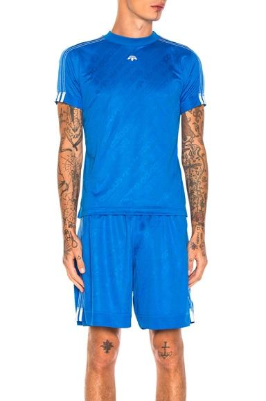 adidas by Alexander Wang Soccer Jersey Top in Bluebird