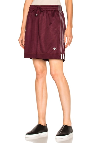 adidas by Alexander Wang Soccer Shorts in Maroon