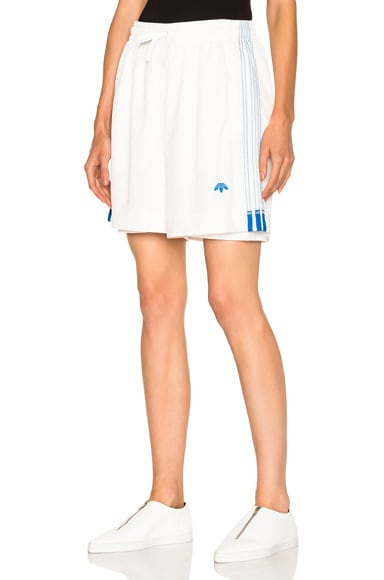 adidas by Alexander Wang Soccer Shorts in Core White
