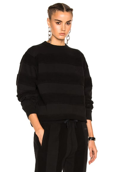 adidas by Alexander Wang Inout Crew Neck Sweater in Black