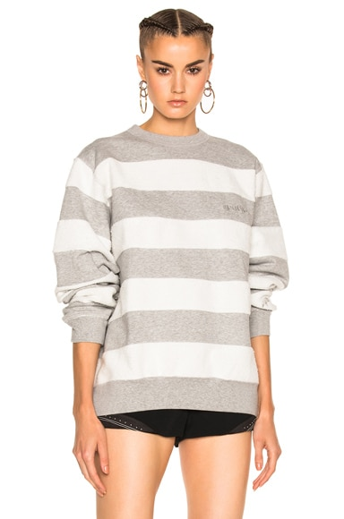 adidas by Alexander Wang Inout Crew Neck Sweater in MGH