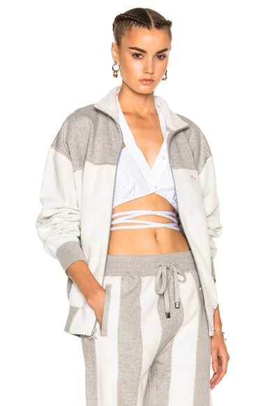 adidas by Alexander Wang Inout Zip Up Jacket in MGH