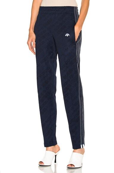 adidas by Alexander Wang Jacquard Track Pants in Night Indigo