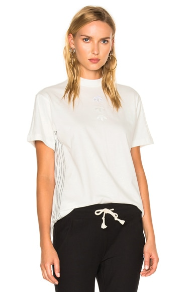 adidas by Alexander Wang Logo Tee in White