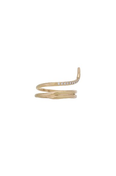 Afin Atelier Fishtail Classic Ring in Gold