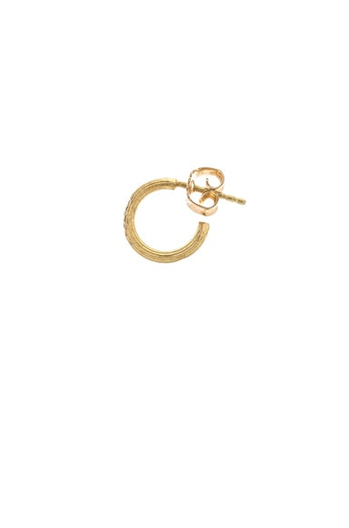 Afin Atelier Small Single Hoop Earring With Diamonds in Gold