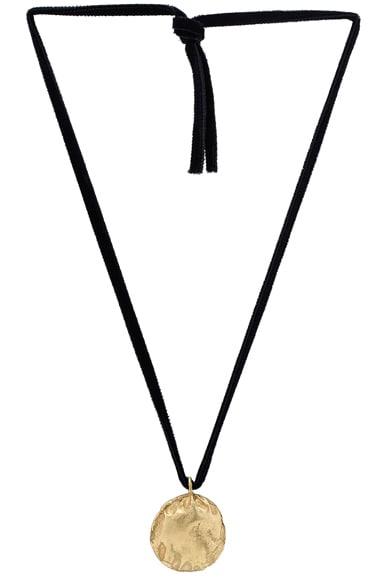 Afin Atelier Stingray Velvet Necklace in Gold
