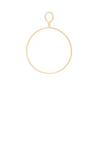 Big Single Hoop Earring With Diamonds