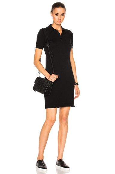 AG Adriano Goldschmied Lane Polo Dress in True Black