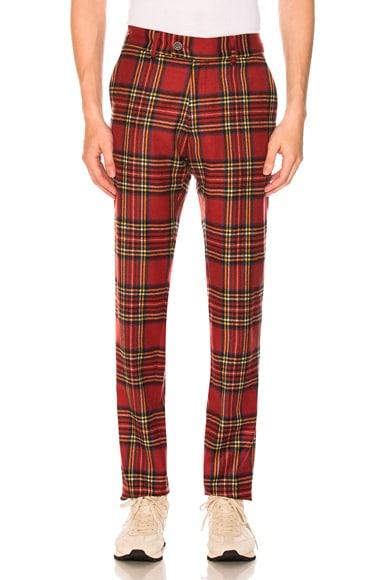 Tartan Flat Front Trousers