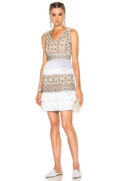 Crochet Embellished Sleeveless Mini Dress