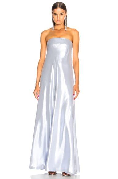 Metallic Strapless Gown