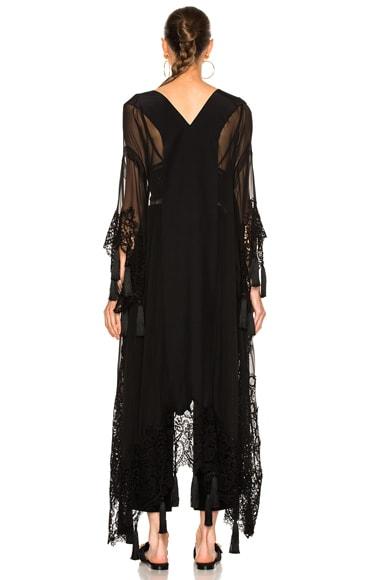 Chiffon Lace Trim Robe