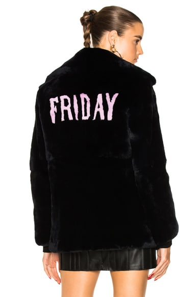 Friday Rabbit Fur Coat